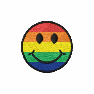 Rainbow Smiley Embroidered Polo Shirt