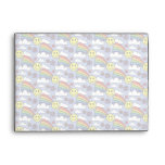 Rainbow Smiley Face and Flowers Hippie Pattern Envelopes