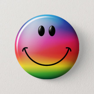 Rainbow Smiley Face Button