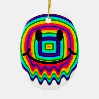 rainbow smiley face christmas ornaments