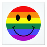 Rainbow Smiley Face Personalized Announcement