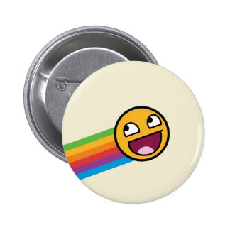 Rainbow Smiley Face Pinback Button