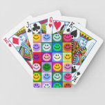 Rainbow smiley face squares bicycle playing cards
