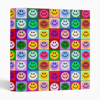 Rainbow smiley face squares binders