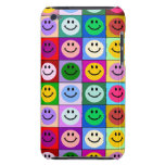 Rainbow smiley face squares iPod touch case