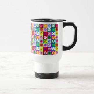 Rainbow smiley face squares mugs