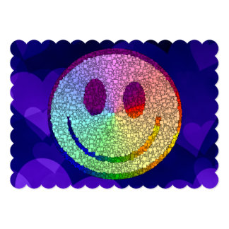 Rainbow Smiley 5x7 Paper Invitation Card