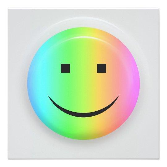 Rainbow smiley invitation card