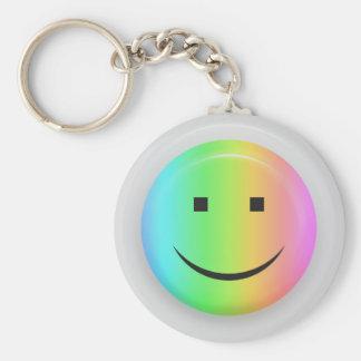 Rainbow smiley keychain