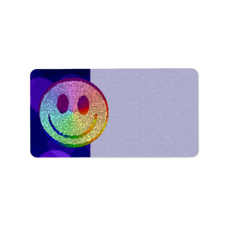 Rainbow Smiley Label