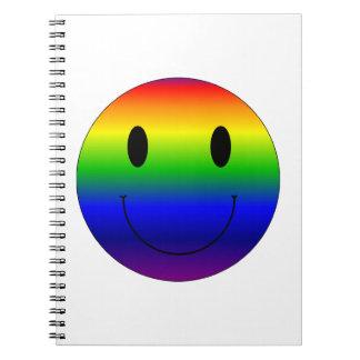 Rainbow Smiley Notebooks