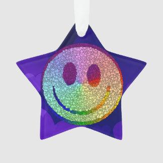 Rainbow Smiley Ornament