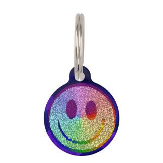 Rainbow Smiley Pet ID Tags
