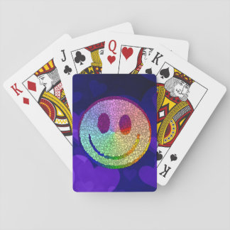 Rainbow Smiley Playing Cards