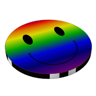 Rainbow Smiley Set Of Poker Chips