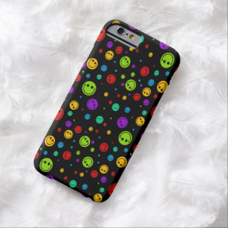 Rainbow Smiley Polka Dots Barely There iPhone 6 Case