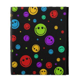 Rainbow Smiley Polka Dots iPad Folio Cover