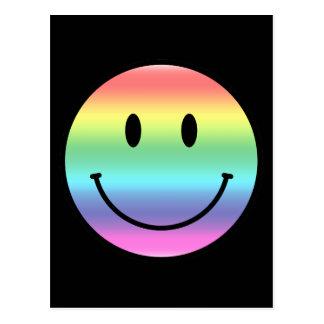 Rainbow Smiley Post Card