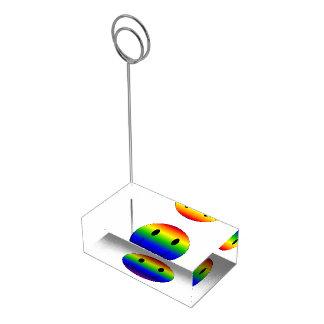 Rainbow Smiley Table Card Holder