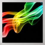 rainbow smoke print