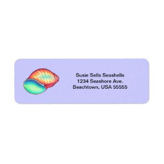 Rainbow Snail Shell Return Address Labels