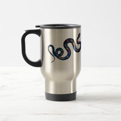 Rainbow Snake 15 Oz Stainless Steel Travel Mug