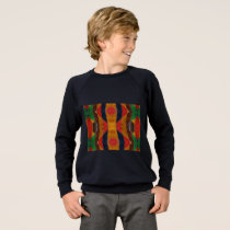 Rainbow Snake leather pattern Sweatshirt