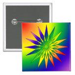 Rainbow Snowflake 41 2 Inch Square Button