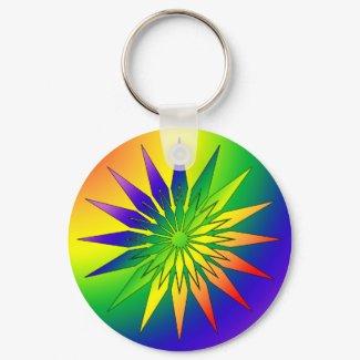 Rainbow Snowflake 41 keychain