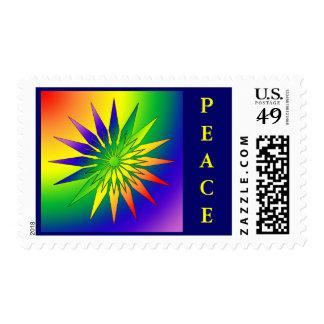 Rainbow Snowflake 41 Postage Stamp