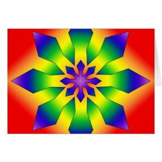Rainbow Snowflake 44 Card