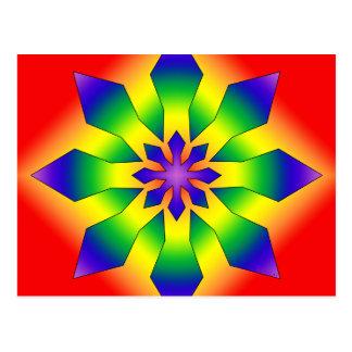 Rainbow Snowflake 44 Postcard