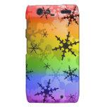 Rainbow Snowflake Droid RAZR Cover
