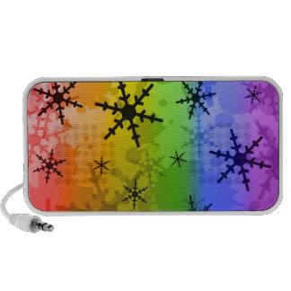 Rainbow Snowflake Laptop Speaker