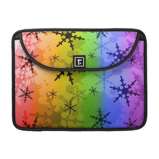 Rainbow Snowflake Sleeve For MacBook Pro