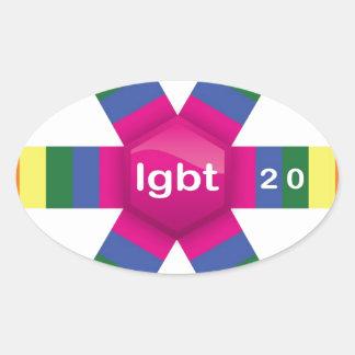 Rainbow Snowflake Stickers