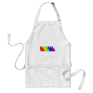 Rainbow Snowshoe Adult Apron