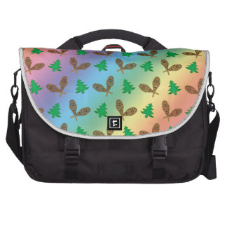 Rainbow snowshoe pattern bags for laptop