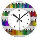 Rainbow Soap Bottles Colorful bathroom clock