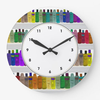 Nice Rainbow Soap Bottles Colorful Bathroom Clock Part 22