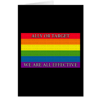 Rainbow - Sochi Protest - Ally or Targe We Are All Greeting Card