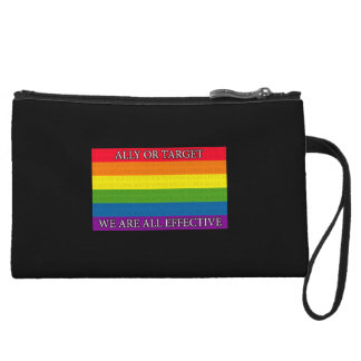 Rainbow - Sochi Protest - Ally or Targe We Are All Wristlet Wallet