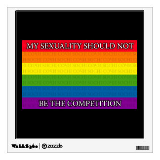 Rainbow - Sochi Protest - My sexuality should... Wall Decal