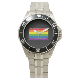 Rainbow - Sochi Protest - My sexuality should... Wristwatches