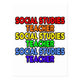 Rainbow Social Studies Teacher Postcard