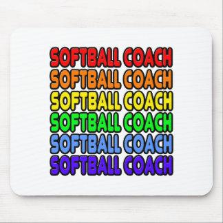 Rainbow Softball Coach Mouse Pad