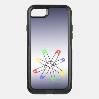 Rainbow Solidarity Safety Pin Red Blue OtterBox Commuter iPhone 7 Case