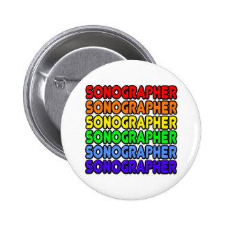 Rainbow Sonographer Pinback Buttons
