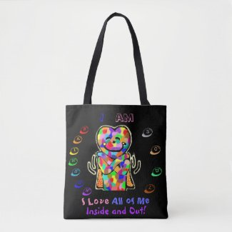 Rainbow Soul Embracing Self-Love Totebag