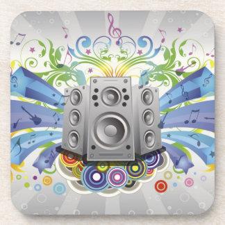 Rainbow Sound Beverage Coaster